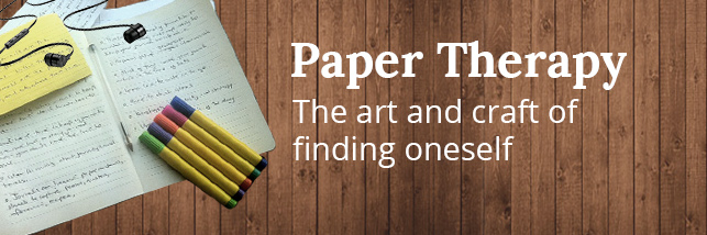 Art Therapy typing on paper online