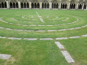 Norwich Cathedral laybrinth 2